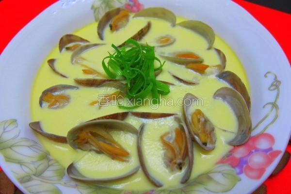 海瓜子蒸蛋的做法
