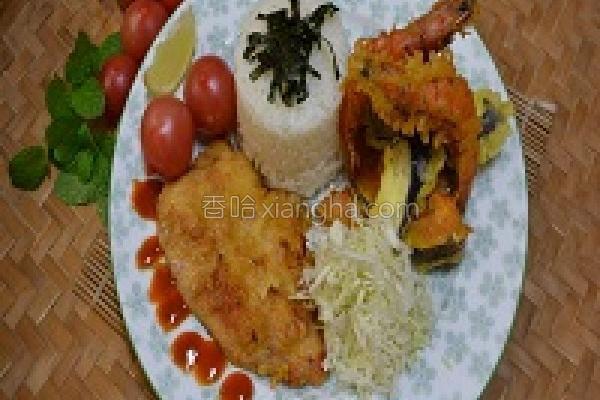 创意米饭禾饱满满的做法
