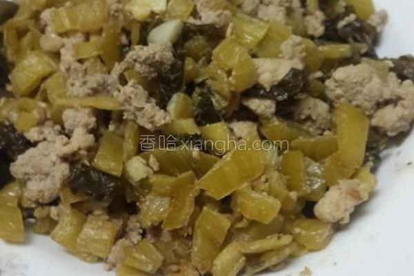 酸菜炒肉末的做法