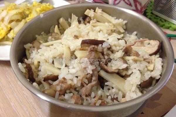 笋香肉丝菜饭的做法
