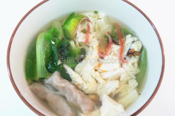 青四季豆腐蛋花汤的做法