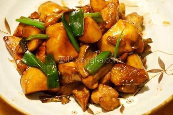 红烧杏鲍菇五花的做法