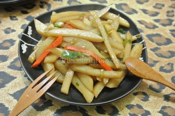 醋熘土豆条的做法