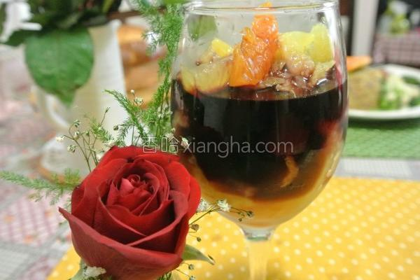 水果红酒的做法