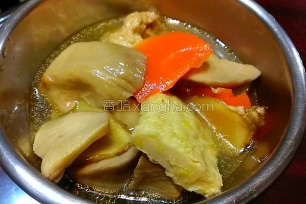 麻油素鸡汤的做法