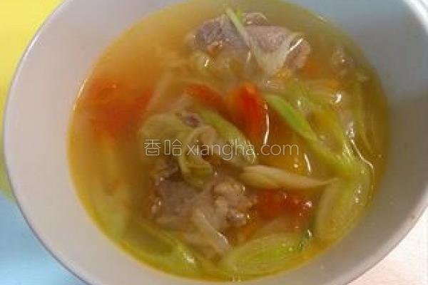 蔬菜排骨汤的做法