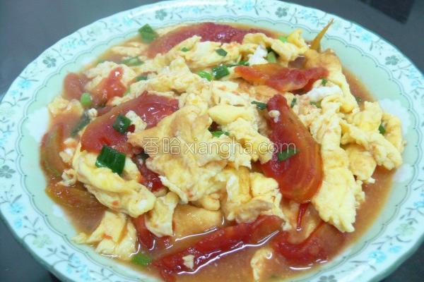 葱花番茄炒蛋的做法