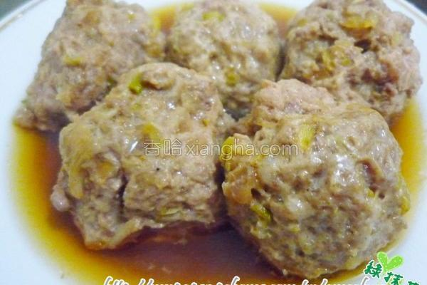 香葱蒜肉丸子的做法
