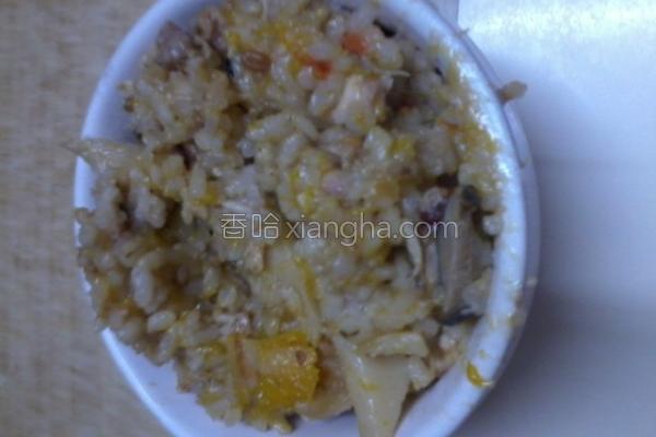 猪肉南瓜菇菇炊饭的做法