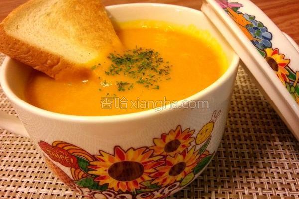 南瓜玉米浓汤的做法