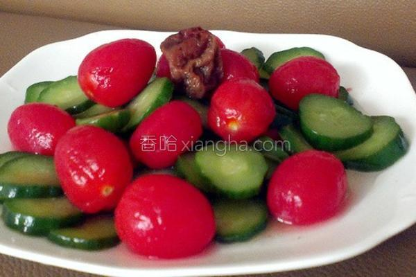 梅渍番茄小黄瓜的做法