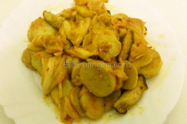黄金泡菜炒杏鲍菇的做法