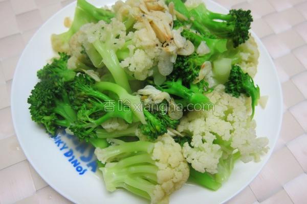 虾皮炒花菜的做法
