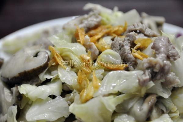 鹅油金葱拌菜的做法