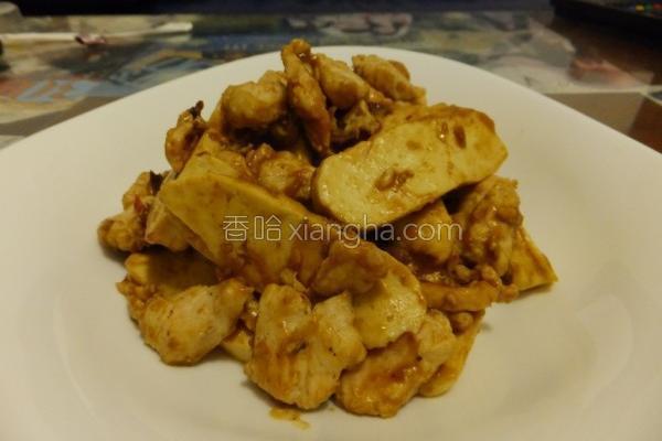 咖哩豆干鸡片的做法