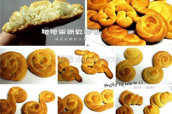 欢乐卷卷饼干面包的做法