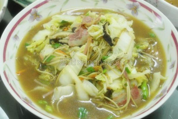 黄金菇炒大白菜的做法
