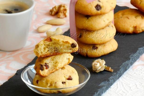坚果巧克力豆饼干的做法