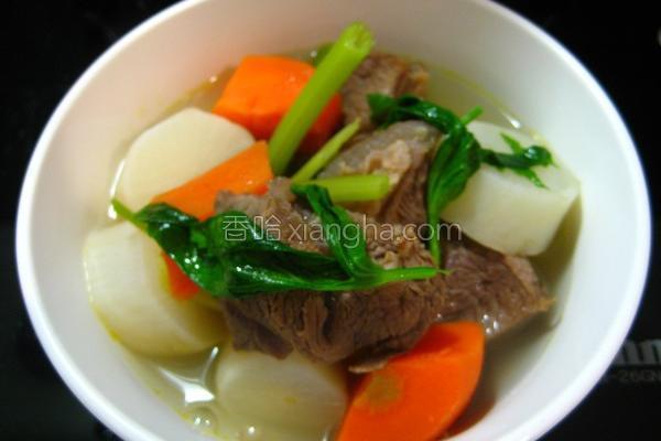 牛肉青蔬牛肉汤的做法