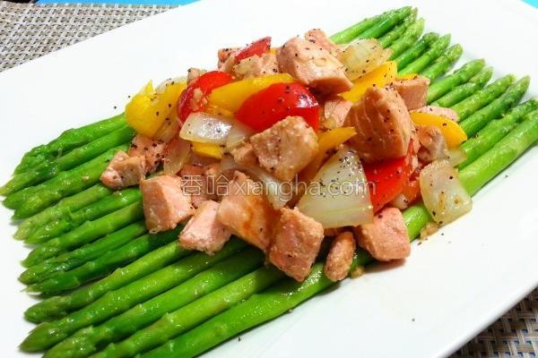 蒜香奶油鲑鱼的做法