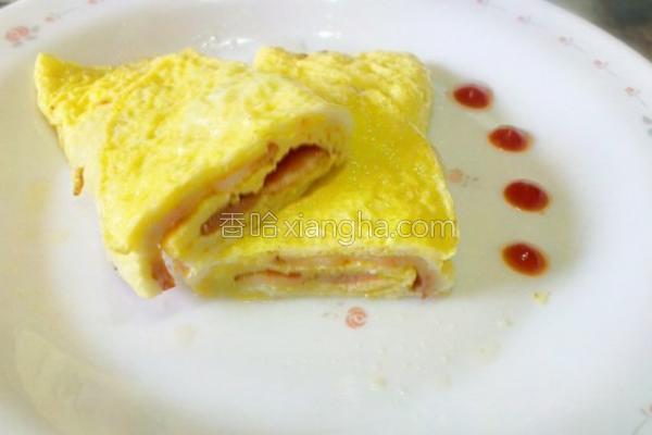 培根煎蛋卷的做法