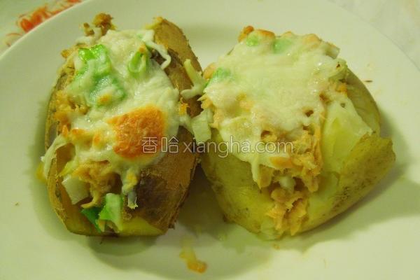 双薯烧的做法