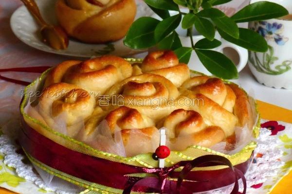 浓玫瑰花牛奶面包的做法