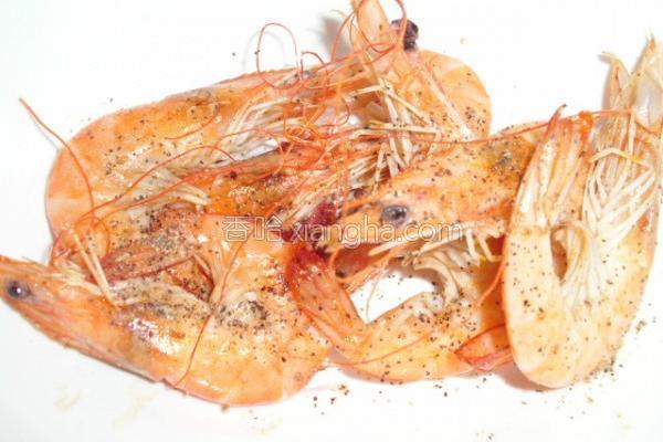 椒盐白虾的做法