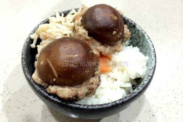 香菇蒸肉丸的做法