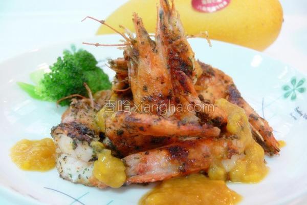 意式芒果鲜虾的做法
