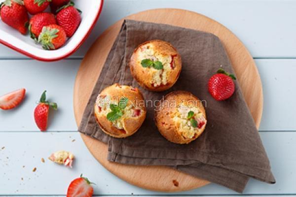 草莓乳酪玛芬的做法