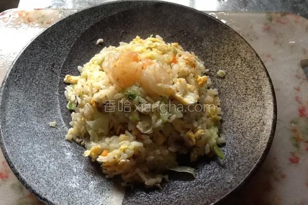 虾仁菜脯蛋炒饭的做法