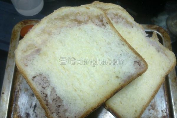 面粉芋泥豆浆吐司的做法
