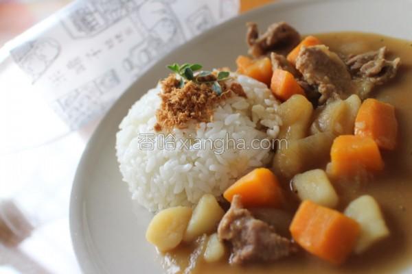 香Q米咖哩的做法
