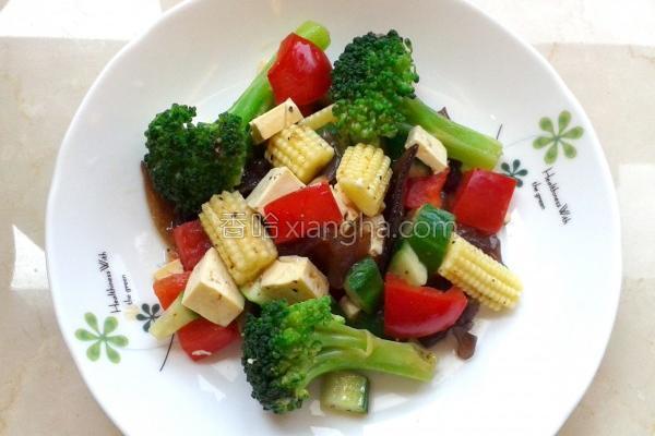 冷压苦茶油佐蔬食的做法