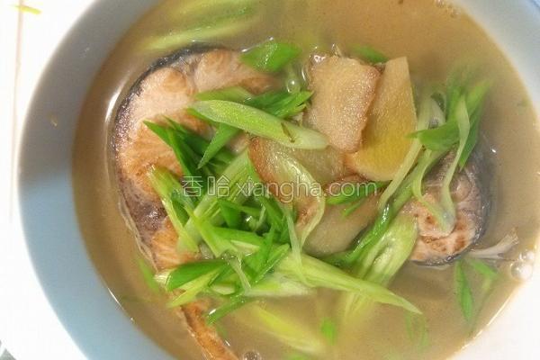麻油乌鱼汤的做法