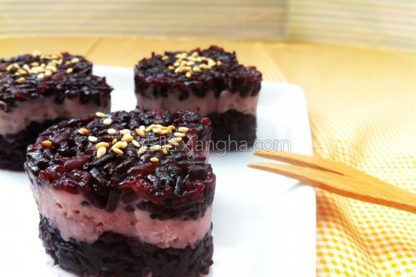 芋泥黑米糕的做法