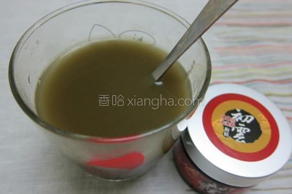 梅精绿茶的做法