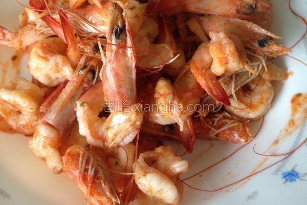 蒜香虾的做法