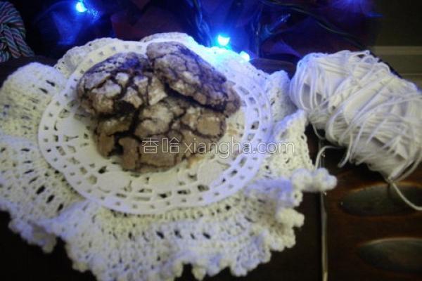圣诞巧克力雪球的做法