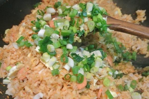 韩式泡菜炒饭的做法