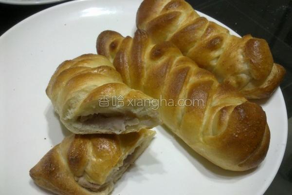 面粉芋头面包的做法
