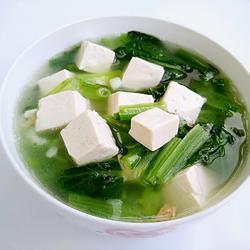 小白菜豆腐汤的做法[图]