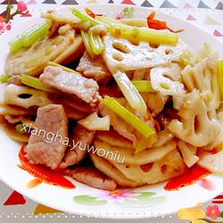 藕片炒肉的做法[图]