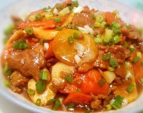 肉片炒茭白