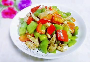 甜椒炒瘦肉