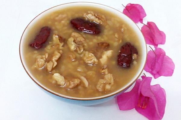 核桃红枣粥