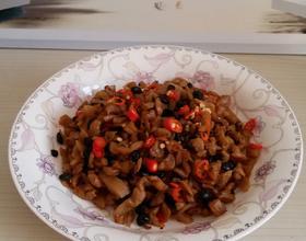 萝卜干炒豆豉
