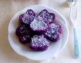 紫薯爱心饼