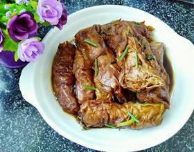 红烧百叶包肉